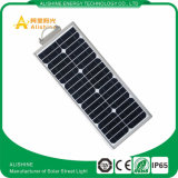China Manufacturer Supply 15W All in One Solar Street / Garden Light com sensor PIR