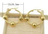 Gouden Manier Earring&#160 van het Plateren van de Juwelen van Shineme de Vacuüm; (ERS6964)