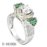 14k de gouden Ring van de Diamant van de Juwelen van de Manier Zilveren