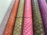 Serpente PU Leather para Sofá / Móveis / Lady Bag com resistência ao fogo