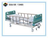 (A-64) Cama de hospital manual Double-Function movible con la pista de la base del ABS