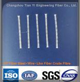 Fibre en acier en plastique de macro polypropylène de fibre de pp pour le matériau de construction