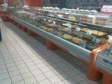Porta de vidro deslizante Deli Meat Case Display Refrigerator para venda