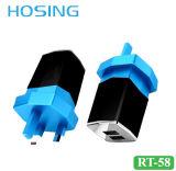 3.4A de dubbele Lader van de Muur USB met Witte/Zwarte OEM Kleur