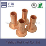 8X24mm Flat Head Full Tubular Steel Rivet Copper Plated