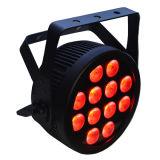 12X12W RGBWA 6 ULTRAVIOLETA en 1 IGUALDAD plana delgada del LED puede con Powercon y curvas más déviles
