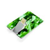 Lecteur flash USB par la carte de crédit d'émerillon polychrome en gros d'impression