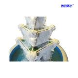 Großer Beleuchtung-Wasser-Brunnen des Ausgangs-u. Garten-Dekoration-Sandstein-LED