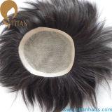 人のための快適な絹の基礎人間の毛髪のToupee