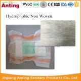 Matéria- prima de Legcuff da tela não tecida Hydrophobic de SMMS para o tecido do bebê