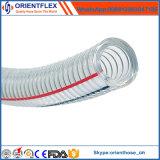 Tubo di rinforzo del tubo di aspirazione del filo di acciaio del PVC del certificato di iso