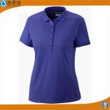 Las mujeres de la fábrica aclaran las camisetas del desgaste del deporte de la aptitud de las camisas de polo