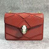 Le borse di vendita superiori famose popolari del cuoio genuino del sacchetto di spalla delle donne di marca con la catena hanno 3 formati Emg5099