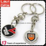 Дешевая изготовленный на заказ монетка Keychains вагонетки с логосом