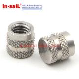 Zinc d'acier inoxydable plaquant la noix moletée de garniture intérieure