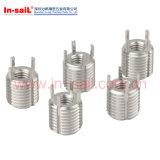 Inserções rosqueadas inoxidáveis de Keensert Keylocking do aço L5020 304 de pouco peso