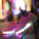 تجارة أجنبيّة لون قرنفل يبيطر رياضة [لد] خفيفة [رولّر سكت] حذاء رياضة لأنّ جديات مع بكرة قابل للانكماش [لد] [رولّر سكت] أحذية يركض