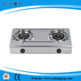 Poêle de gaz d'acier inoxydable de bonne qualité de brûleur à fer