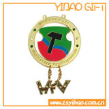 Медаль изготовленный на заказ мягкого сувенира эмали золотистое для подарка промотирования