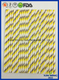 Сторновка Striped бумаги Gree желтого цвета украшения партии