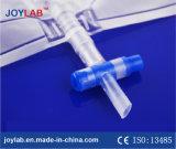 transparenter Beutel des Urin-2000ml mit t-Ventil