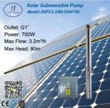 750W Sistema de agua de la bomba centrífuga 3 pulgadas Solar
