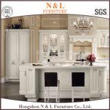 Module de cuisine à la maison moderne blanc pur en bois solide de meubles