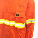 De katoenen Materiële Vlam van de Polyester - vertrager het Met een laag bedekte Bijeenkomen Workwear