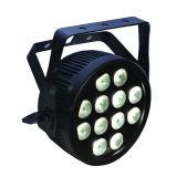 12X12W RGBWA UV 6 in 1 Slanke Vlakke LEIDEN PARI kan met Powercon en Schemerigere Krommen