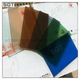 Подкрашиванное/сделанное по образцу & кисловочное травленое стекло с SGS Ce для здания