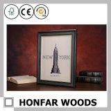 Frame de retrato de madeira clássico do país para a decoração Home