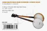 La marque d'Aiersi Ouvrent-En arrière le banjo de 5 chaînes de caractères (BJ005N-24)