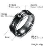 CNC de Steen van de Juwelen van de Machine beëindigt de Zwarte Ring van het Titanium