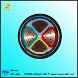 Câble cuivre électrique du faisceau 4mm2 du câble d'alimentation 4 de PVC/PVC du Cu 600/1000V du CEI 60502-1