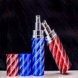 botella de cristal del perfume de aluminio colorido 12ml con el aerosol