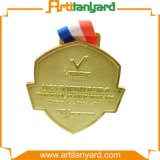 De aangepaste Medaille van het Metaal met Gouden Plateren