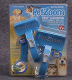ペットブラシの小さいクリーニングブラシのPetzoomの自浄式ペット処理のブラシを2詰めなさい