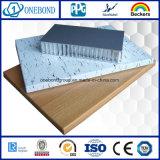 Panneau en aluminium de nid d'abeilles de matériau de construction pour le revêtement de mur