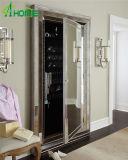 Diseño único de tres marcos con los espejos de vestido integrales del suelo del espejo de la cabina de la joyería