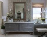 Vanité simple de salle de bains de bassin de type moderne européen gris