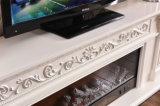أبيض ينحت تدفئة [إيوروبن] موقد كهربائيّة مع تلفزيون حامل قفص ([321س])