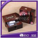 Rectángulo del cajón de la insignia del oro de la hoja de la impresión en color de Soild para el chocolate