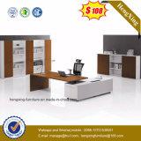Mobilier moderne de bureau en bois massif Placage exécutif Table Bureau (HX-CK010)