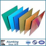 Панель PVDF Coated зеленая золотистая голубая алюминиевая составная