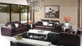 Sofa moderno Furniture Leather Sofa con Genuine Leather Sofa
