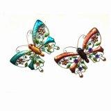2 Asst 정원 다채로운 나비 금속 벽 훈장