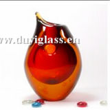 Florero de cristal multicolor hermoso del arte para la decoración