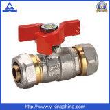 """1/2 """" - 1 """" válvula de esfera de bronze com o punho da borboleta do zinco (YD-1040)"""