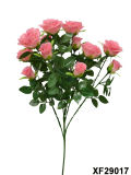 Artificiale/Plastic/Silk Flower Single Stem di Rosa con 6 Branches (XF29017)