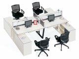 Preiswerte doppelte Büro-Partition für Vierpersonen mit Schrank (SZ-WST763)